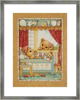 Teddy Bear Friends Framed Print by Lynn Bywaters