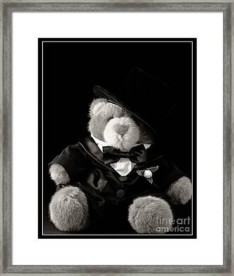 Teddy Bear Groom Framed Print