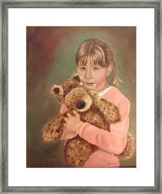 Framed Print featuring the painting Teddy Bear by Sharon Schultz