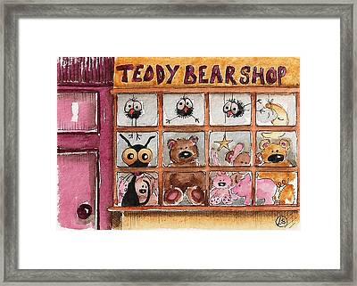Teddy Bear Shop Framed Print