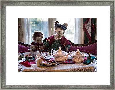 Teddy Bear Tea Party Framed Print by Patricia Babbitt