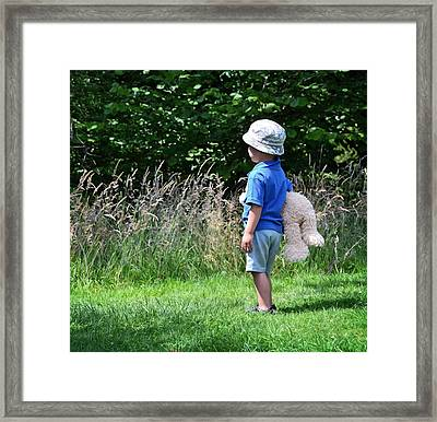 Framed Print featuring the photograph Teddy Bear Walk by Keith Armstrong