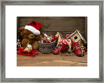 Teddy Bears At Christmas Framed Print by Doc Braham