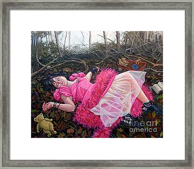 Teddy Bears Picnic Framed Print by Shelley Laffal