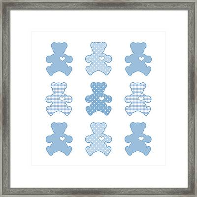 Teddy Bears With Big Hearts Framed Print by J M Designs