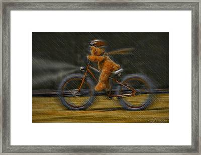 Teddy Going Hard 01 Framed Print