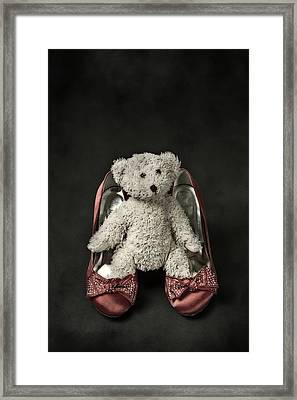 Teddy In Pumps Framed Print by Joana Kruse