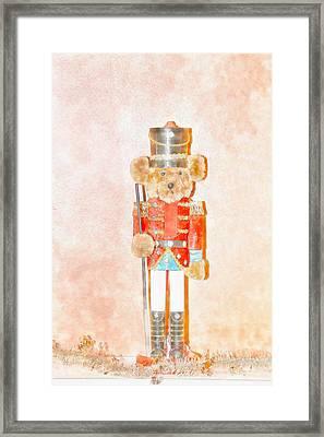 Teddy Nutcracker Framed Print