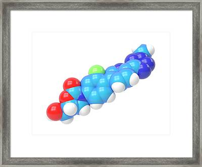 Tedizolid Antibiotic Molecule Framed Print by Indigo Molecular Images