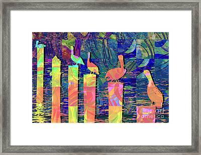Tee Many Martoonies Framed Print by Ginny Schmidt