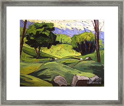 Tee Off Framed Print by Charlie Spear