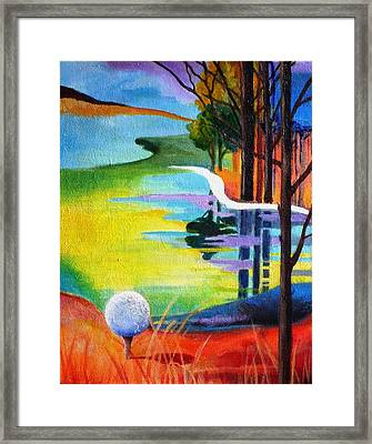 Tee Off Mindset- Golf Series Framed Print by Betty M M   Wong