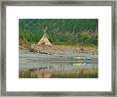 Tee Pee At River Bend  Framed Print by Gracia  Molloy