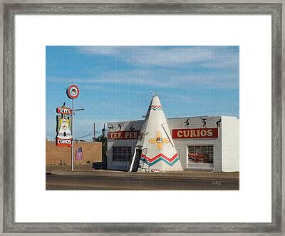 Tee Pee Curios Rt. 66 Framed Print by Gordon Beck