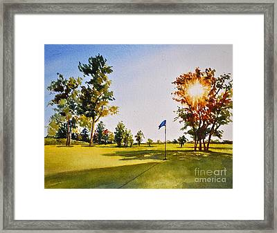 Tee Time Framed Print by Andrea Timm