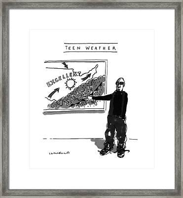 Teen Weather Framed Print