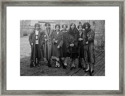 Teenage, Girls Rifle Team Of Drexel Framed Print