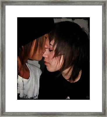 Teenage Tenderness Framed Print by Gun Legler