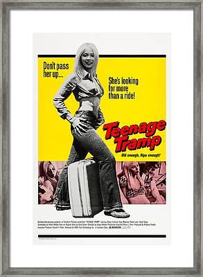 Teenage Tramp, Alisha Fontaine, 1973 Framed Print