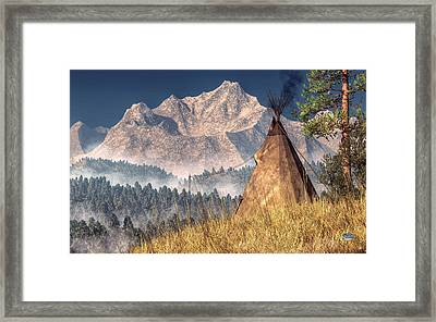 Teepee Framed Print by Daniel Eskridge