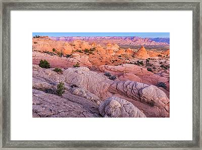 Teepee Sunrise - Arizona Desert Photograph Framed Print by Duane Miller