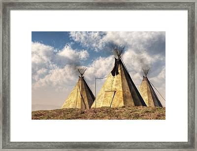 Teepees Framed Print by Daniel Eskridge