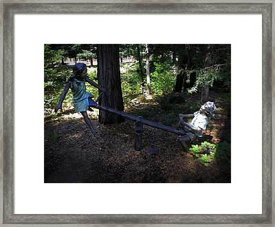 Teeter Totter Framed Print by Frank Wilson