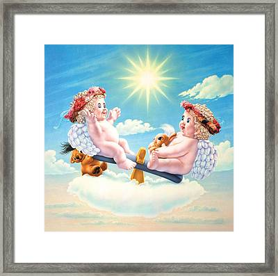Teeter Tutter See Saw Framed Print by Andrew Farley