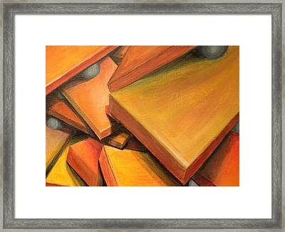 Teetering Man Framed Print by D August