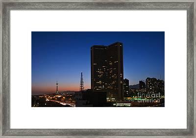 Tehran In Twilight Framed Print by Babak Tafreshi