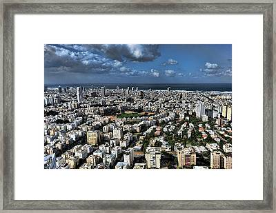 Framed Print featuring the photograph Tel Aviv Center by Ron Shoshani