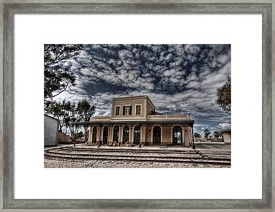 Framed Print featuring the photograph Tel Aviv First Railway Station by Ron Shoshani