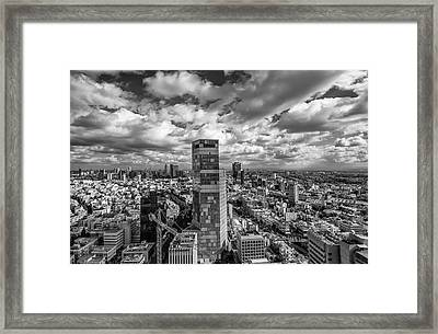 Tel Aviv High And Above Framed Print by Ron Shoshani