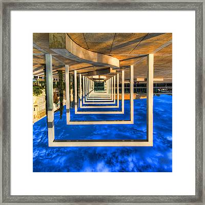 Framed Print featuring the photograph Tel Aviv Jump by Ron Shoshani