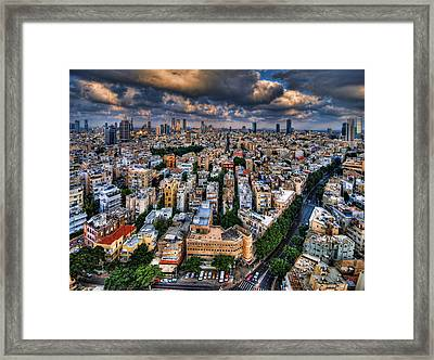 Tel Aviv Lookout Framed Print by Ron Shoshani