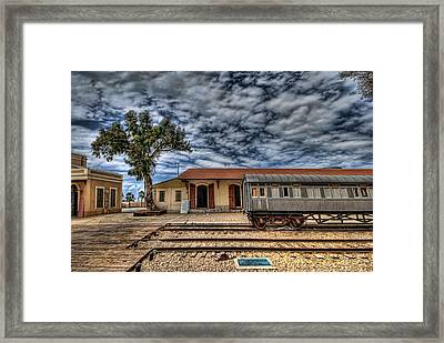 Tel Aviv Old Railway Station Framed Print by Ron Shoshani