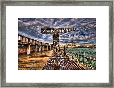 Tel Aviv Port At Winter Time Framed Print