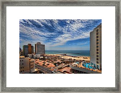 Framed Print featuring the photograph Tel Aviv Summer Time by Ron Shoshani