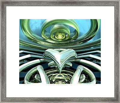Telecoil Framed Print by Kevin Trow