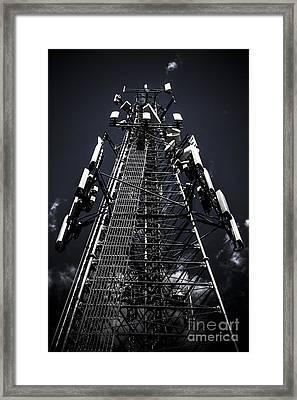 Telecommunications Tower Framed Print