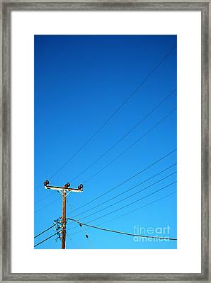 Telegraph Pole Framed Print by Antony McAulay