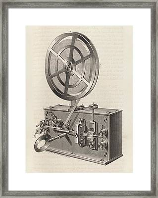 Telegraph Printer Framed Print by King's College London
