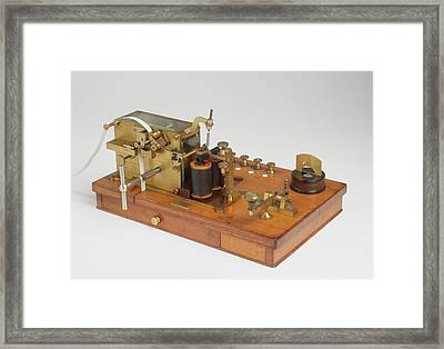Telegraph Receiver Printed Morse Code Framed Print