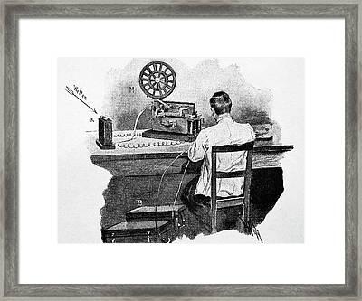 Telegraph Receiving Station Framed Print by Bildagentur-online/th Foto
