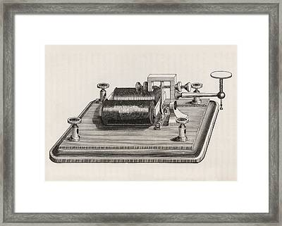 Telegraph Relay Device Framed Print