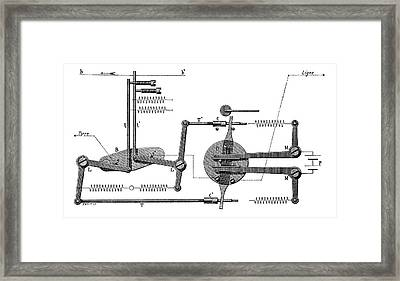 Telegraph Tape Transmitter Framed Print by Science Photo Library