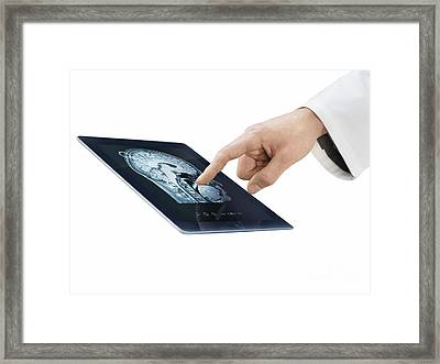 Telemedicine, Conceptual Image Framed Print by Science Photo Library