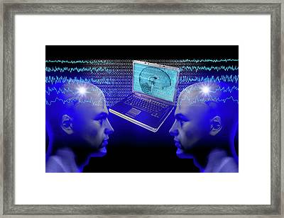 Telepathy Framed Print by Carol & Mike Werner