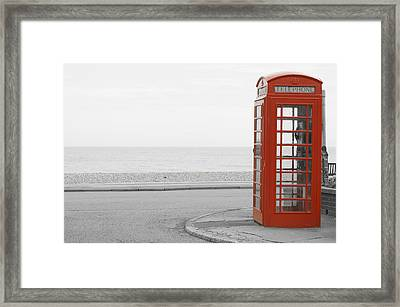Telephone Booth Framed Print
