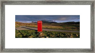Telephone Booth In A Landscape, Isle Of Framed Print by Panoramic Images